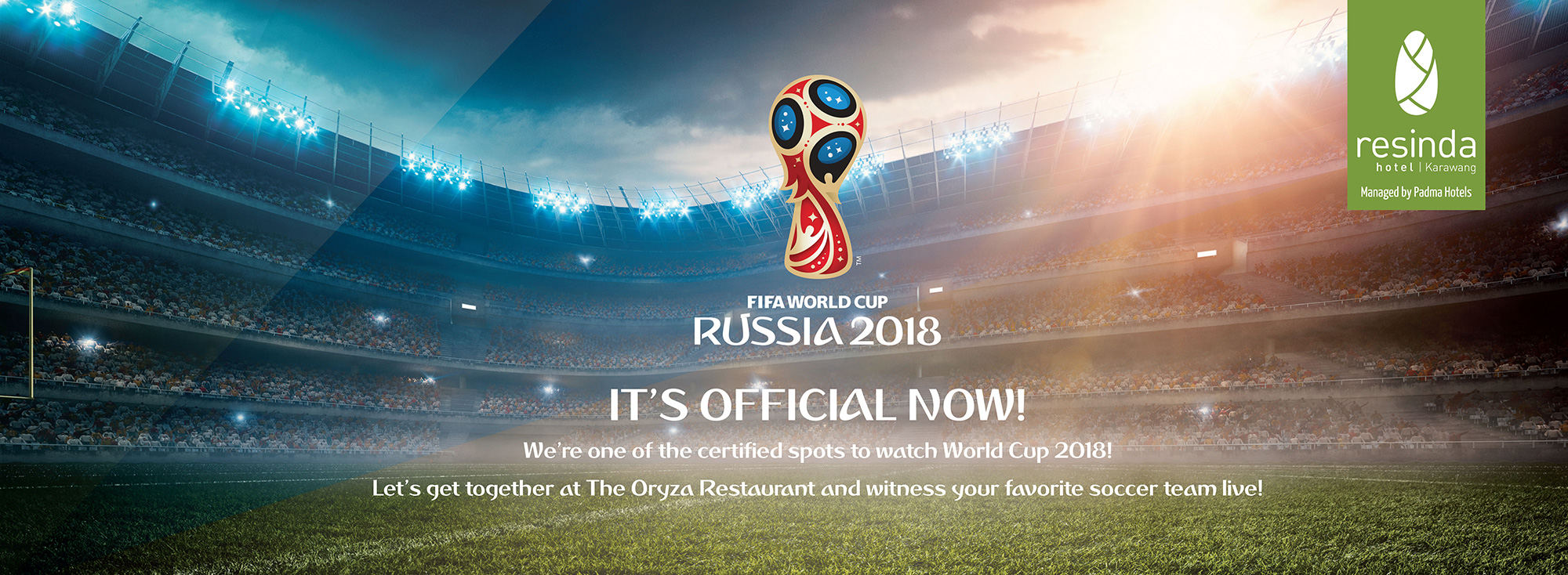 World Cup 2018 at The Oryza Restaurant